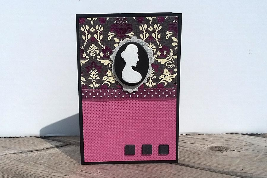 Card - Black Currant Cameo