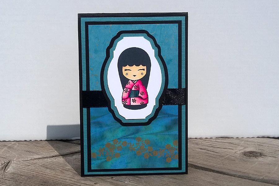 Card - Chinese Doll