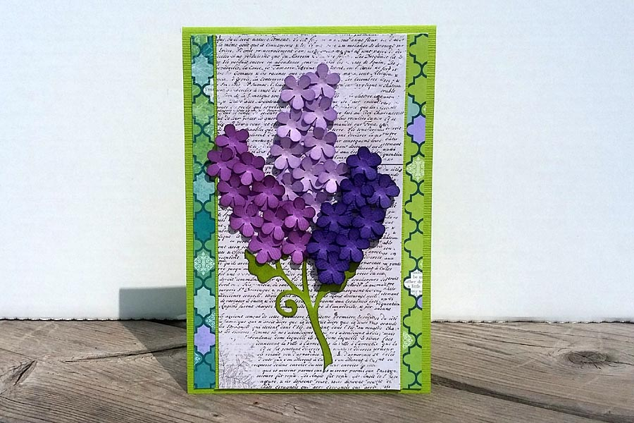Card - Bunch of Lilacs