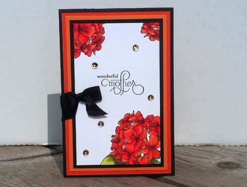 Card - Orange Hydrangea