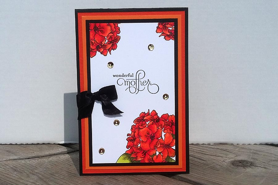 Card - Orange Hydrangea