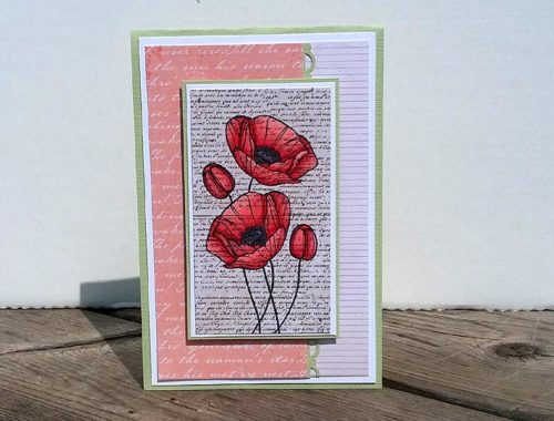 Card - Peach Poppies