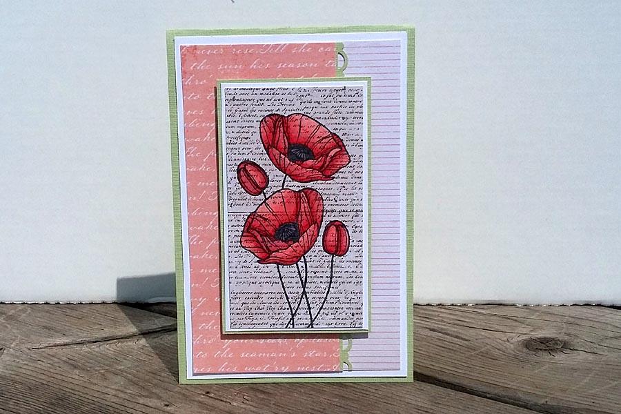 Card - Peach Poppies