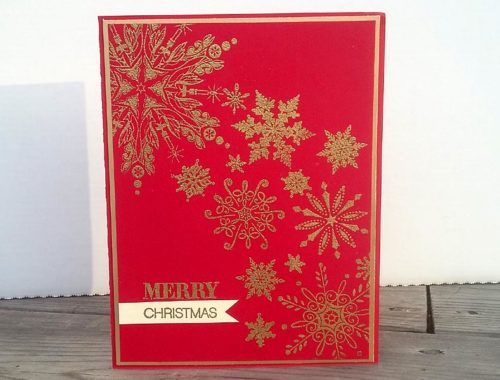 Red & Gold Snowflakes