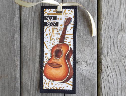 Guitar bookmark