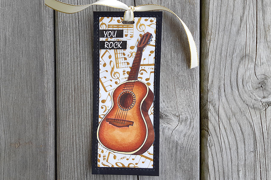 Guitar bookmark