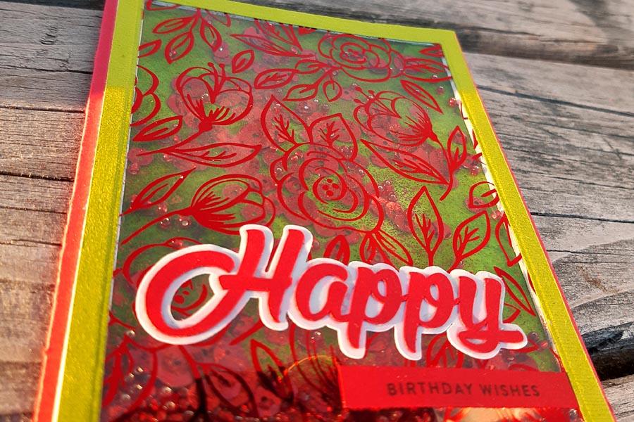 Flower Foil Shaker Close-up