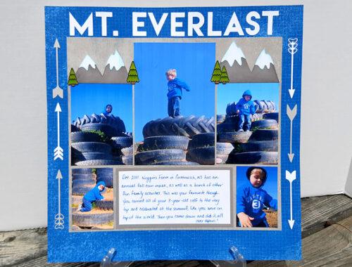 Mt. Everlast - Scrapbook Layout