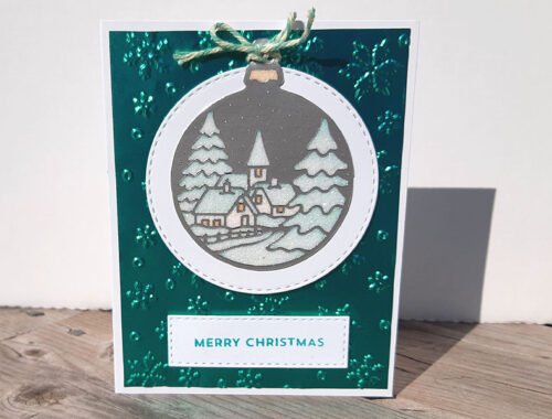 Snowy Ornament - Teal