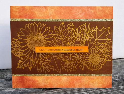 Fall Colours Gratitude Card