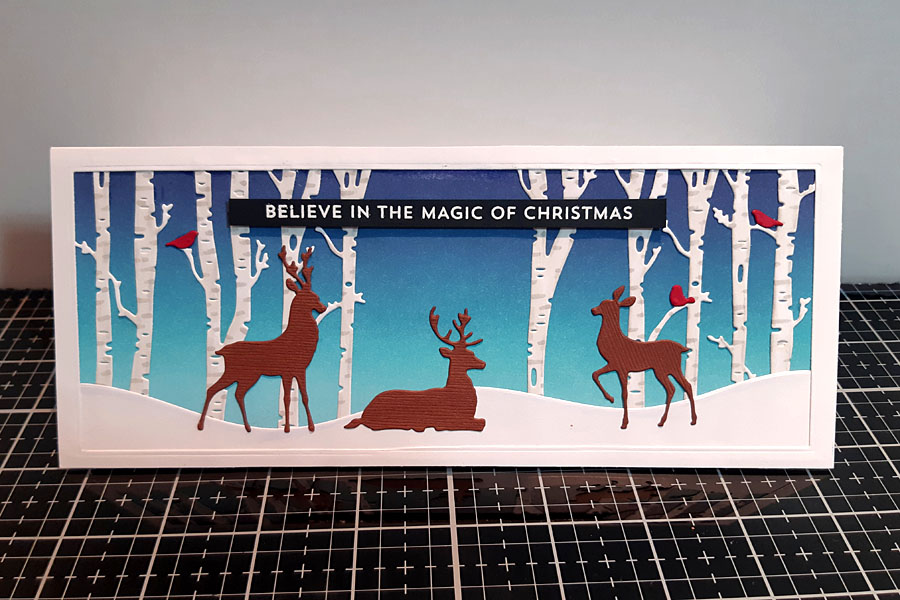 Deer in the Forest - Christmas Card