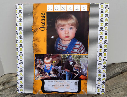 Grease Monkey - Scrapbook Page