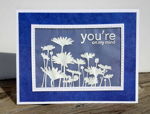 You're on my mind - sympathy card
