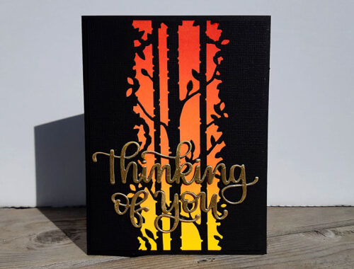 Thinking of You - Sunset Sympathy Card