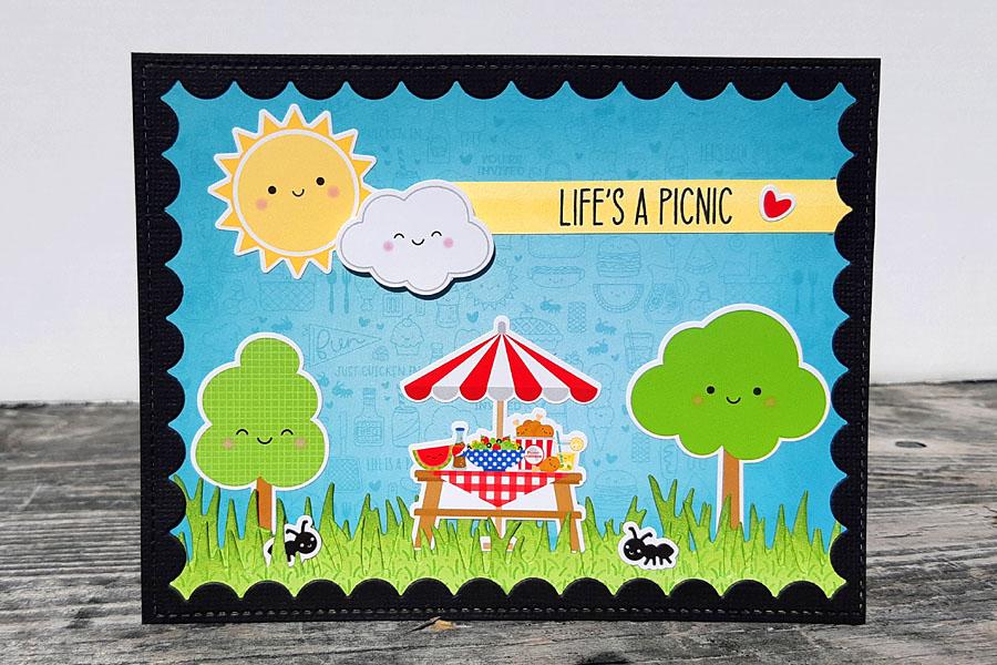 Life's a Picnic - Doodlebug Bar-B-Cute Card