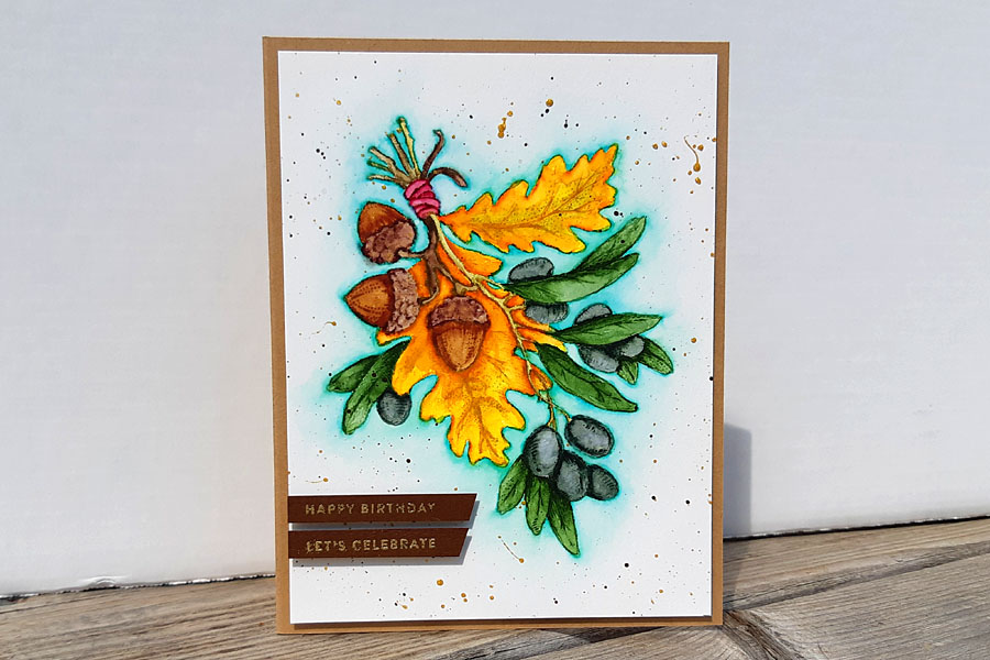 Olive & Oak Watercolor Birthday Card