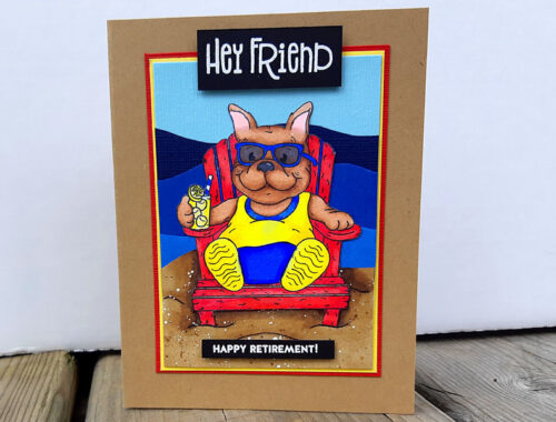 Frenchie Retirement card